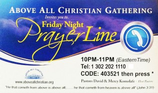 prayerlinecard