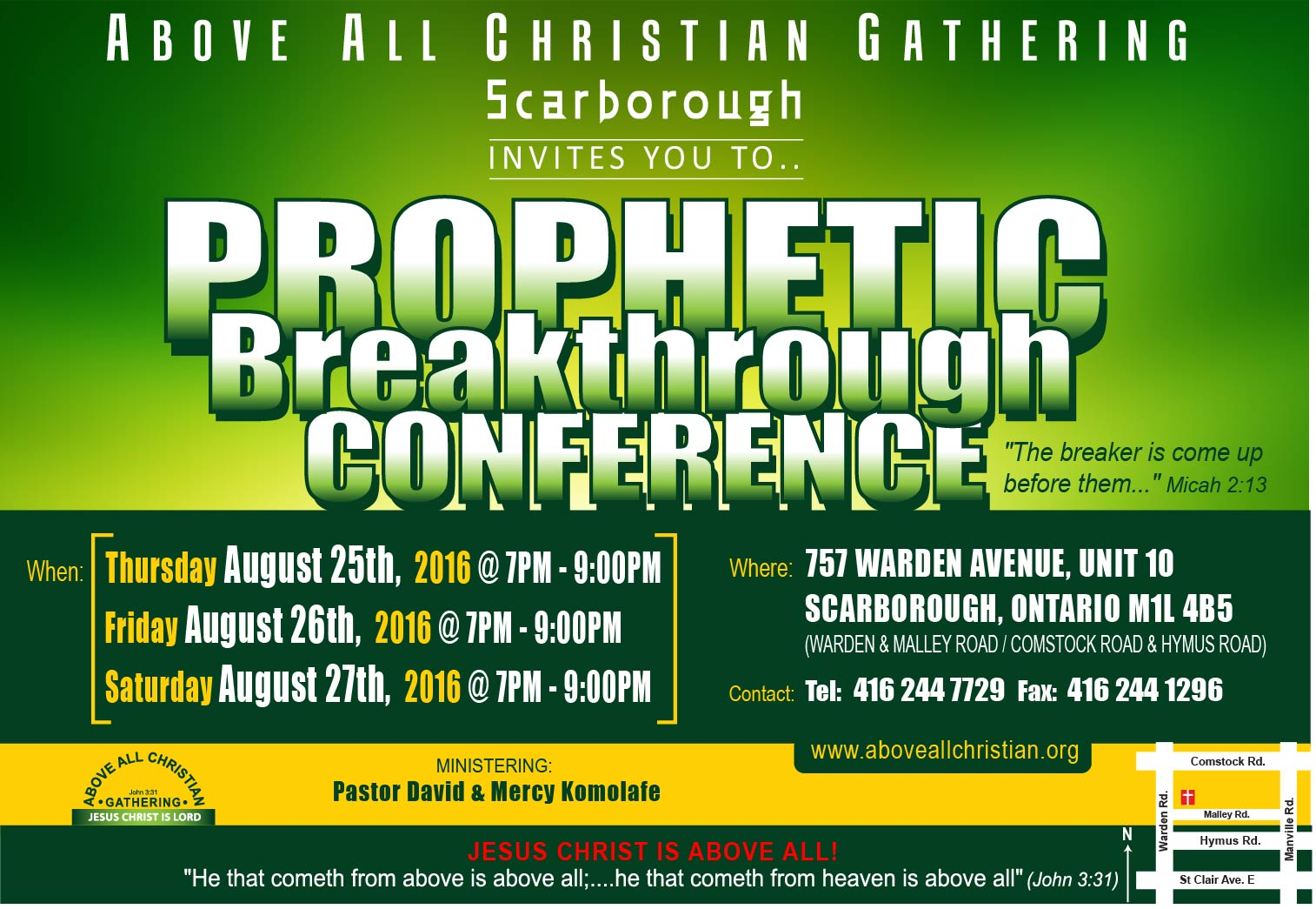 PROPHETIC BREAKTHROUGH CONFERENCE